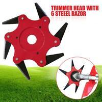 6 Steel Razors Trimmer Head Weed Wacker Blade Brush Cutter Garden for Lawn Mower