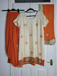 Ladies 3 Piece Short Sleeved Punjabi Salwar Kameez Size 2XL 22