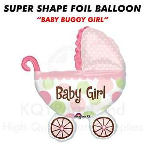 "Super Shape ""Baby Buggy Girl"" Jumbo Foil Balloon Helium Air Birthday Decoration"