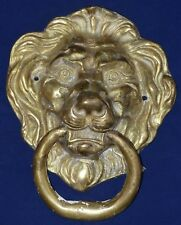 Superb Antique Early 19th Century Very Large Cast Lion Brass Door Knocker