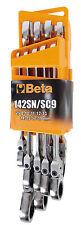Beta serie set 9 pz Chiavi combinate 8-19mm cricchetto snodata Mod. 142SN/SC9