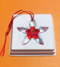 Swarovski Poinsettia Flower Christmas Tree Ornament