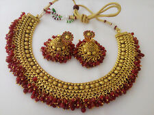 new Indian Fashion Jewelry Polki Necklace Bollywood Ethnic traditional set