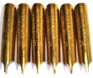 Vintage Esterbrook Lot of 6 New RELIEF No. 314 Dip Pen Nibs Made in England Nib