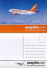 Airline Issue Postcard Easyjet B737 (b)