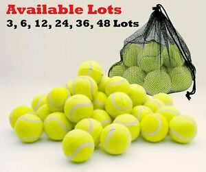 3 6 12 Tennis Balls Good Quality Sports Outdoor Fun Cricket Beach Dog Ball Game