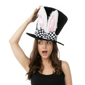 BUNNY HAT WORLD BOOK DAY FANCY DRESS COSTUME MAD CRAZY HAT ACCESSORY HALLOWEEN
