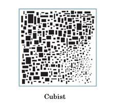 STENCIL - Cubist Cubism Klimt like 6x6 inch - Mixed Media Fiber Arts Texturing