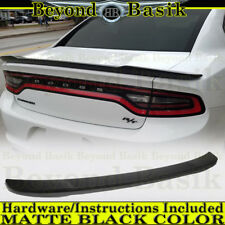 2011-2018 Dodge Charger MATTE BLACK Factory HELLCAT Style Spoiler Wing Fin