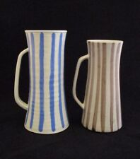 Set of 2 Tall Mugs by American Pottery Artist Jane Mayer Delaware Listed Artist