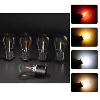 2x 1157 BAY15D S25 P21W Super White Daytime Running Light DRL Glass Bulbs 12V