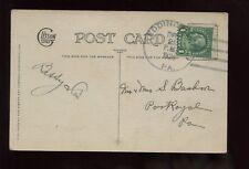 US Pennsylvania Christmas Postcard 1924 Eddington (Good Cancel) to Port Royal Pa