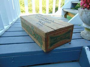 Antique Wooden Shipping Crate Box Fels-Naptha Soap Philadelphia to Bainbridge NY
