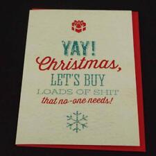 Tarjeta De Saludos novedad Rude Divertido Broma Humor Navidad cargas de SH * T