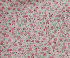 Pretty Pink with Flowers Floral 100% Cotton Floral Fabric Sold By the Half metre