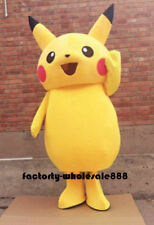 Yellow Mouse Adult Mascot Costume Dress Halloween Party Pokemon Go Cosplay Game