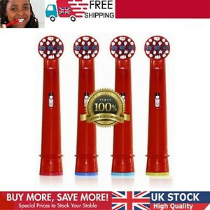 4Pack O.B- Electric Toothbrush Replacement Heads Kids Children Brushes Red