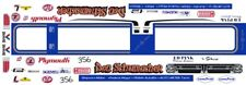 Don Schumacher's Barracuda Funny Car 1/24th - 1/25th Scale Decals