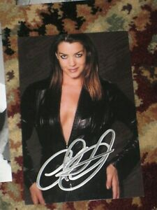 Actress CLAUDIA CHRISTIAN Signed 4x6 SEXY Photo AUTOGRAPH 1A