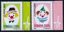 2002 Circus,Boy and Girl Clown,Zirkus,Cirque,Circo,Circ,Europa,Romania,5657,MNH