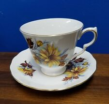 QUEEN ANNE china England 8428 AUTUMN ASTER pattern Cup & Saucer