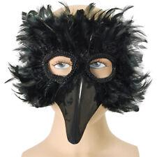 BLACK BIRD Piuma Eye Mask Costume Accessorio