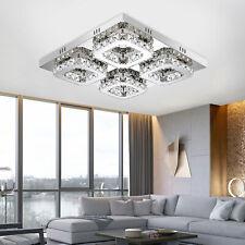 Modern Crystal LED Ceiling Light Chandelier Fixture Flush Mount Pendant Lamp HOT