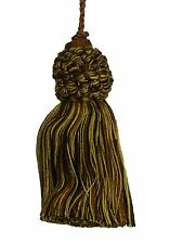 "Conso Empress 22074 W109 COIN GOLD BLACK BROWN 4"" Long Decorative Key Tassel"