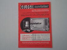 advertising Pubblicità 1963 GELOSO TELEVISORE CON NUVISTOR