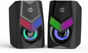 HP 2.0 Stereo Computer Speakers with Backlight