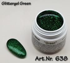 5 ml UV Exclusiv extrem Glittergel, Farbgel Green Gel Nr.638