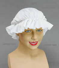 White Victorian Mob Cap  Fancy Dress Costume Accessory Mop Mob Cap