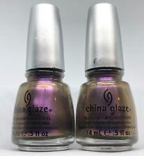 China Glaze Nail Polish NO PLAIN JANE 1166 Duochomatic Golden Purple Lacquer