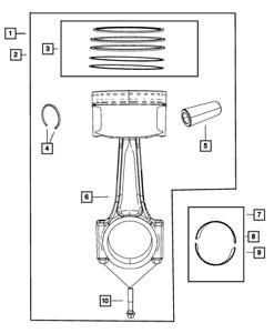Genuine MOPAR Connecting Rod Bearing 5184113AF