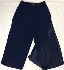 R&M Richards Women's Petite side Split Palazzo dress Pants Plus Sz 16WP O299