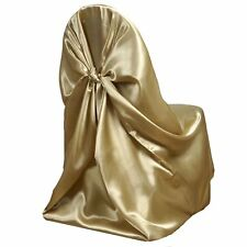 Champagne Universal Satin Chair Cover
