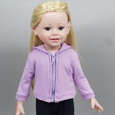 """Pour 18"""" American Doll notre génération ma vie poupées vêtements violet MANTEAU POP. UK"""