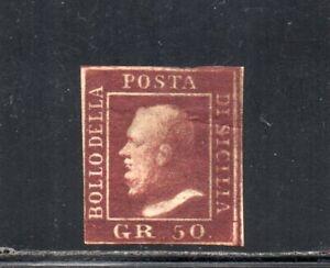 1859 ITALY SICILY SA# 14b 50gr LACCA BRUNO VIOLACEO $6500.00