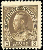 Mint NH 1918 Canada F Scott #108 King George V Admiral Stamp
