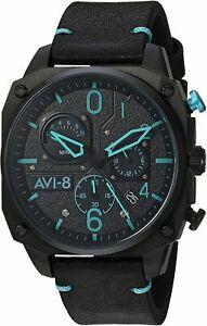 AVI-8 Men's AV-4052 Hawker Hunter Analog Display Japanese Quartz Watch with Leat