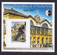 BLOC CNEP N° 75a ** NON DENTELE Gommé, SALON D'AUTOMNE PARIS 2017, TB