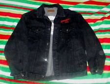 2XL Black DENIM JACKET Excellent Condition '08 Ride For Kids embroidered logos