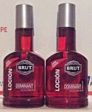 Lot of 2- Brut Dominant  After Shave Lotion 3.4 oz