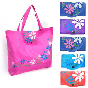 Large Capacity Shopping Bag Foldable Tote Reusable Oxford Cloth Bag Casual Gift