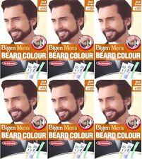SIX PACKS of Bigen Mens Beard Colour B103 Dark Brown