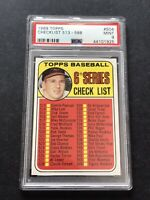 1969 Topps Check list #504 BROOKS ROBINSON Baseball Card Mint PSA 9