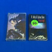 Lot 2 R. KELLY Cassette Tapes - I'm Your Angel w Celine Dion , Born Into The 90s