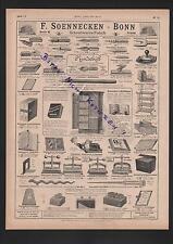 BONN, Werbung 1898, F. SOENNECKEN Schreibwaren-Fabrik Federn Ordner Aktenständer