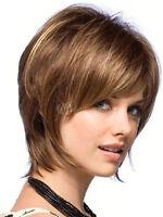 Mode Hellbraun Dame Haar-Perücke Kurz Light Brown Lockigen Wie Echthaar Wig