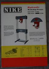NIKE Hardware brochure Hydraulic Workshop Presses 1958 - Canada - ST501001117
